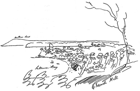 first settlement sketch