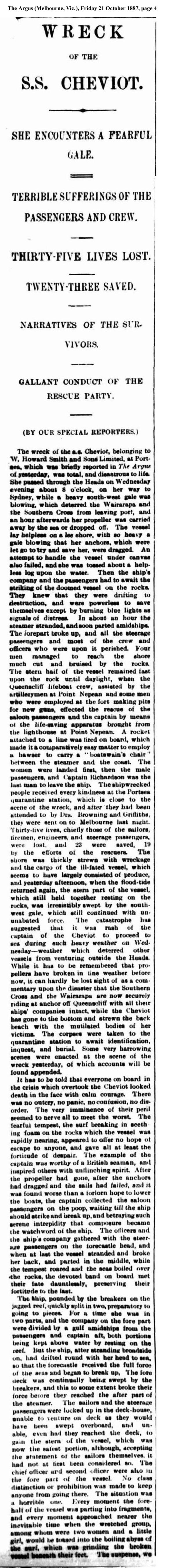 news - Cheviot 1848 col 1