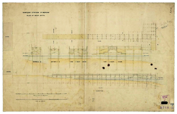 Plans for Jetty 1858