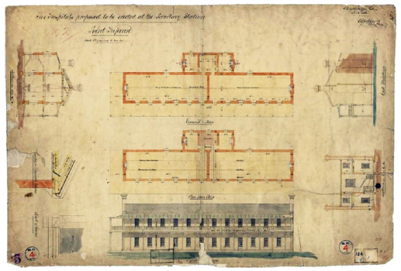 Plans for One of First Five Hospitals 1856