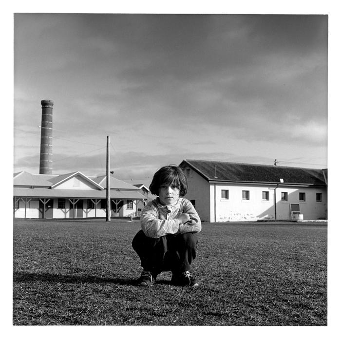 Kosovar refugee child on the Parade ground