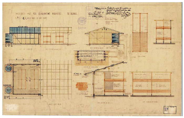 Plans for Emergency Huts 1919