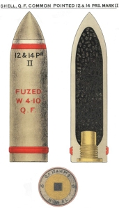 QF 12 & 14 pdr CP MkII Shell