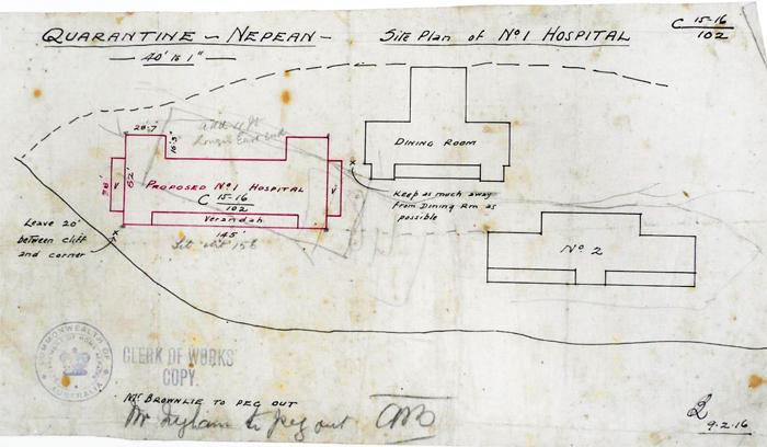 Site Plan No 1 Hospital 1916