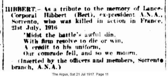 albert hibbert memorium argus 1917