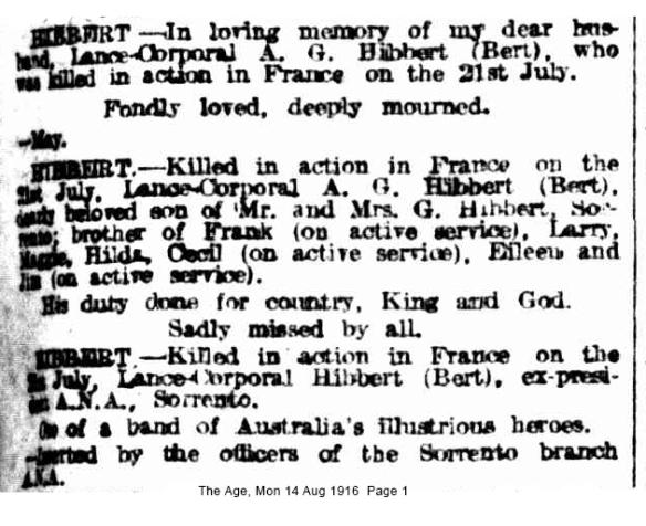 albert hibbert notice aug 1916