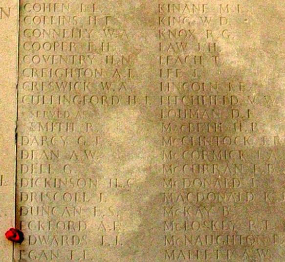 knox listing at v b memorial