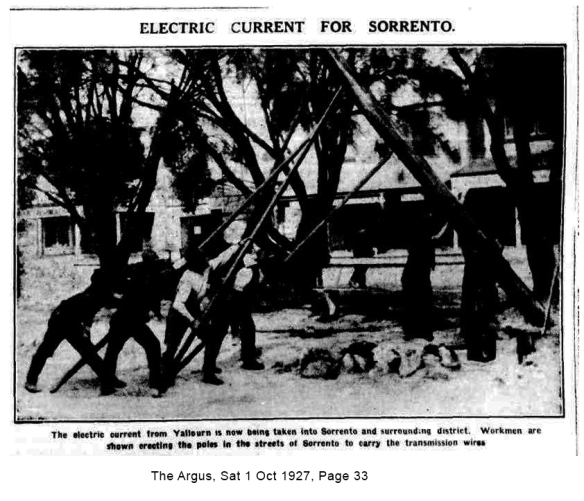 Electric Current for Sorrento, Argus 1 Oct1927
