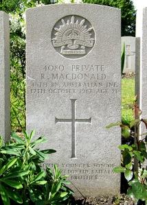 Macdonald headstone
