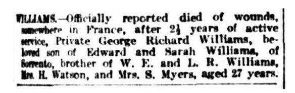 notice argus 19 jun 1918