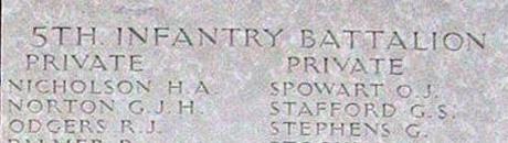 stafford memorial